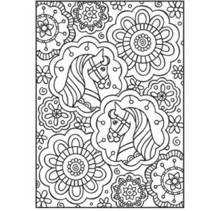 30 Happy Horses Colouring Book-3800