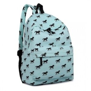 Cantering Horse Canvas Backpack - Coolmint-0