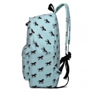 Cantering Horse Canvas Backpack - Coolmint-3971