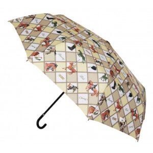 'Equestrian Sports' Hook Handle Folding umbrellalike -0