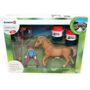 Schleich - Barrel racing with Cowgirl-4124