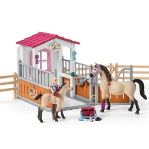 Schleich - Horse Stall with Arab Horses and Groom -0