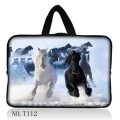 "Snow Horses Laptop/Tablet Bag - 13""-0"