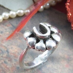 Sterling Silver Horseshoe Love Ring -0