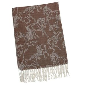 Horse Silk & Cashmere Pashmina - Autumn Brown-0