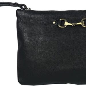 Victoria Clutch Bag in Black Leather -0