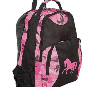 Pink Horse Camo Backpack-0