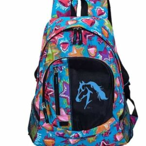Stars and Hearts Horse Backpack-0
