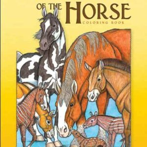 The Evolution of the Horse Coloring Book-0