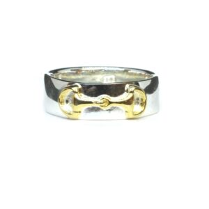 Silver / Gold Horse Bit Ring-0