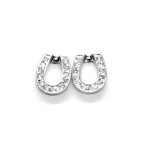 Crystal Horseshoe Earrings-0