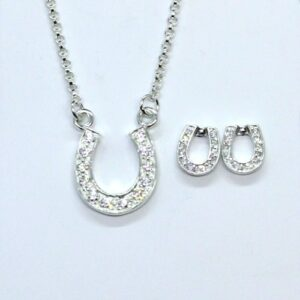 Crystal Horseshoe Earrings-5482