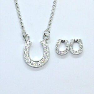 Crystal Horseshoe Earrings-5482