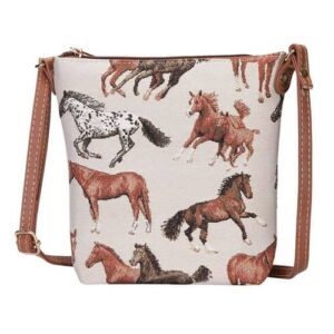 Run Free Horse Tapestry Cross Body Bag - Small-0