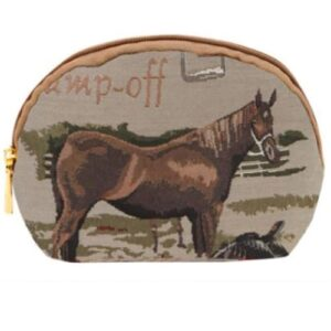 Horse Tapestry Makeup Accessory Bag - Small-0