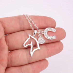 Three Pendant Fashion Necklace Silver -0