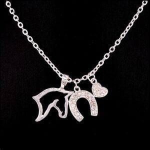 Three Pendant Fashion Necklace Silver -5664