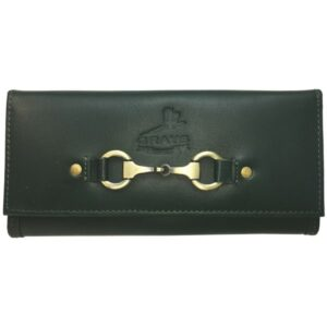 Lily Purse in racing green leather-0