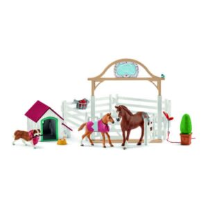 Schleich - Hannah's Guest Horses & Dog-0