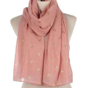 Stag Scarf - Dusty Pink / Rose Gold-0