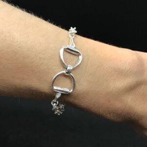 Sterling Silver Reverse Snaffle Bracelet-0