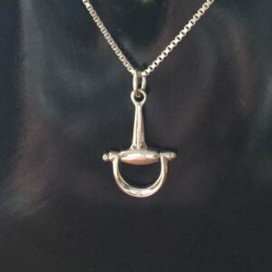 Sterling Silver Half D-Bit Pendant w/chain-0